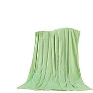 Flanel Zelená,Jednolitý Jednolitý 100% polyester přikrývky 200x230cm