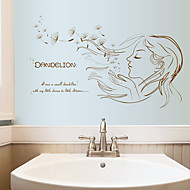 Módní / květiny / Lidé Samolepky na zeď Samolepky na stěnu Ozdobné samolepky na zeď,PVC Materiál Snímatelné Home dekoraceLepicí obraz na