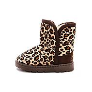 Girl's Boots Winter Comfort Snow Boots PU Dress Casual Flat Heel Others Leopard Walking