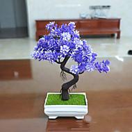 Set of 1 PCS 1 Ast Polyester Pflanzen Tisch-Blumen Künstliche Blumen Long 9.4(inch)