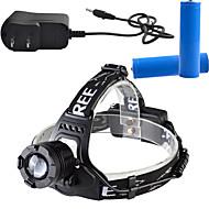 Osvětlení Čelovky LED 900 Lumens Lumenů 3 Režim Cree T6 18650 Stmívatelná / Dobíjecí / Anglehead / Ultra lehkéKempování a turistika /