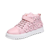 Kid Fashion Cowhide Leather Sneakers Breathable Tulle Sport Shoes Flat Heel Athletic  Running Shoes Student dance Boot