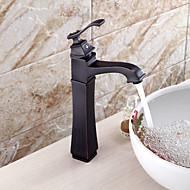 antik stil olie-gned bronze færdig vandfald messing håndvasken vandhane