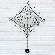 Μοντέρνο/Σύγχρονο Σπίτια Ρολόι τοίχου,Άλλα Ακρυλικό / Γυαλί / Σιδερένιο / Μέταλλο 60*83cm Εσωτερικό Ρολόι