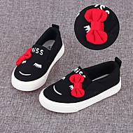 לבנות-נעליים ללא שרוכים-קנבס-נוחות-שחור / אדום / לבן-קז'ואל