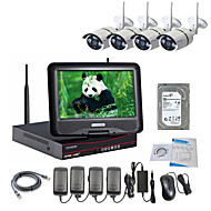 Strongshine® Wireless IP Camera with 960P/Infrared/Waterproof and NVR with 10.1Inch LCD /2TB Surveillance HDD Kits