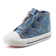Boy's Boots Spring / Fall Comfort Canvas / Cotton Outdoor / Casual Flat Heel Zipper Blue Walking / Sneaker