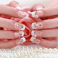 une boîte de 24 patchs belle mariée comprimés faux ongles manucure