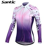 SANTIC® Wielrenshirt Dames Lange Mouw Fietsen Houd Warm / Sneldrogend / Ultra-Violetbestendig / Draagbaar / ZonbeschermingShirt / Jack /