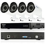 szsinocam® 4ch 720p videorekordér 1800tvl vodotěsný domácí bezpečnostní kamerový plc soupravy