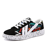 Platform Kényelmes-Talp Tipegők-Női cipő-Tornacipők-Szabadidős Alkalmi Sportos-Bőrutánzat-Piros Fehér Narancssárga