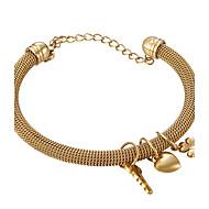 Pulseiras Bracelete Aço Inoxidável / Chapeado Dourado Halloween / Aniversário / Pesta / Diário / Casual Jóias Dom Dourado,1pç