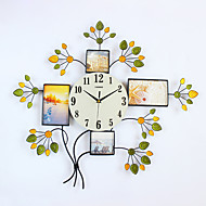 Modern/Contemporary Houses Wall ClockNovelty Glass / Metal / Polyresin 71*63CM Indoor Clock