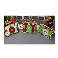 zwei zum Verkauf Weihnachten Freude verpackt hängen Weihnachten kreativ Weihnachtsdekoration liefert