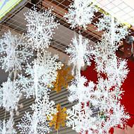 6pcs / פתיתי שלג תלת מימדי 1set על שרשרת שלג סטריאו מתפתל