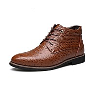 Men's Boots  Fall / Winter /Fashion Boots/Comfort Casual Low Black / White
