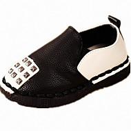יוניסקס-נעליים ללא שרוכים-PU-Others-שחור / לבן / כסוף-קז'ואל-עקב שטוח