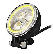 Jiawen 3.5inch 5.5W ronde zwarte leidde motorfietskoplampen voor jeep koplampen (dc 9-48v)
