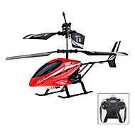 HX713 2 - Channel Exquisite Model Alloy Body Excellent Performance RC Remote Control Helicopter (Red) - RED