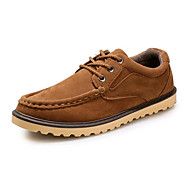 Men's Loafers & Slip-Ons Spring Summer Fall Winter Platform Comfort Canvas Fleece Outdoor Office & Career Casual Low Heel Lace-upBlue