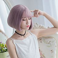 NEW Milky Lavender Color Short Fashion Beauty Synthetic Wigs Heat Resistant Wig for Dailly or Cosplay