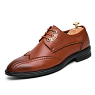 Men's Fashion Bullock Caved Shoes Comfort Oxfords Wedding Shoes Party & Evening Split Joint Lace-up