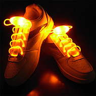 LED Light Up Лесь shoeslaces для шнурков TPU водонепроницаемый синий / желтый / зеленый / розовый / красный / белый / темно-зеленый / светло-зеленый /