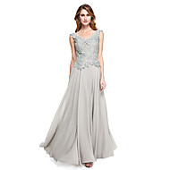 2017 Lanting Bride® A-line Mother of the Bride Dress - Elegant Floor-length Sleeveless Chiffon / Lace with Lace