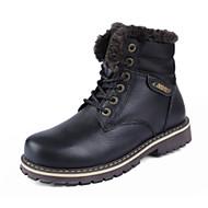 גברים-מגפיים-PU-פלטפורמה-שחור / חום-שטח / קז'ואל-עקב שטוח