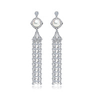 Earring Drop Earrings Jewelry Women Halloween / Wedding / Party / Daily Zircon 1 pair As Per Picture