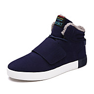 Men's Sneakers Spring Fall Winter Comfort Leatherette Outdoor Office & Career Casual Low Heel Black Blue Beige