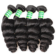 7A Brazilian Virgin Hair Loose Wave 4 Bundles Brazilian Loose Wave Virgin Hair Human Hair Weave Bundles Brazilian Curly Hair