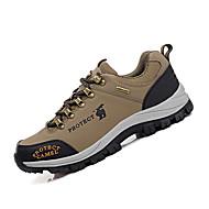גברים-נעלי אתלטיקה-דמוי עור-נוחות-ירוק / חאקי-שטח / ספורט-עקב שטוח