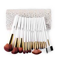 15 Brush Sets Synthetisch haar / Nylonkwast / Zwijnsborstel Professioneel / synthetisch / Beperkt bacterieën / HypoallergeenGezicht / Lip