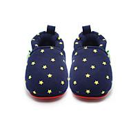 Lapset Poikien Vauvat Mokkasiinit Ensikengät Crib Shoes Puuvilla Urheilullinen Kausaliteetti Ensikengät Crib Shoes TasapohjaLaivaston
