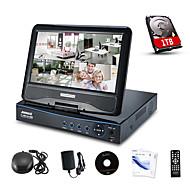 """annke® 10,1 """"LCD 4ch AHD 720p DVR NVR HVR síť CCTV video monitorovací 8 kanál pro AHD fotoaparát s 1TB HDD"""