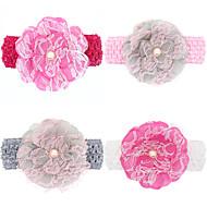 4pcs / set filles bébé dentelle fleur large bandeau todder accessoires cheveux enfant hairband
