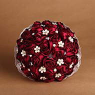 """Bouquets de Noiva Redondo Rosas Buquês Tafetá 19.7""""(Aprox.50cm)"""