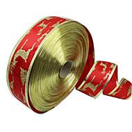 1kpl 5cm leveä joulu koriste nauha joulu tarvikkeita punainen kulta Phnom Penh joulukuusi hirvi nauha