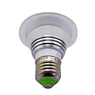 3W E14 / GU10 / B22 / E26/E27 Lâmpadas de Foco de LED MR16 1 LED de Alta Potência 280 lm RGB Regulável / Controle Remoto / Decorativa V1