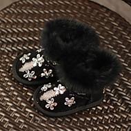 Boty-Zvířecí kožešinka-Others-Dívčí-Černá / Zelená / Růžová-Běžné