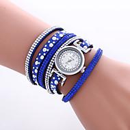 Mulheres Relógio de Moda Relógio de Pulso Bracele Relógio Quartzo Colorido PU Banda Vintage Heart Shape Boêmio Bracelete Legal Casual
