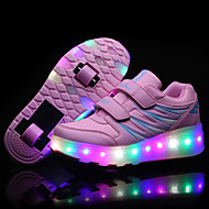 Kényelmes Light Up Shoes-Alacsony-Női cipő-Tornacipők-Szabadidős Alkalmi Sportos-Bőr-Fekete Rózsaszín