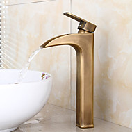 חור אחד ידית centerset תקן אמריקאי אחד ברז כיור האמבטיה ברונזה עתיק