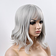 europæiske og amerikanske mode pære hoved sølvgrå kort hår høj temperatur wire paryk