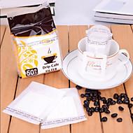 draagbare drip koffiefilter papieren koffiefilter zak filter schuimen, set van 50