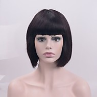 natuurlijke Pruiken synthetisch Kanten Voorkant Pruiken Kort Zwart Haar