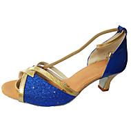 Obyčejné-Dámské-Taneční boty-Latina / Taneční tenisky-Pažetky-Na zakázku-Modrá / Stříbrná / Zlatá / Jiná