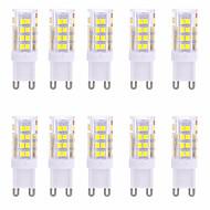 5W G9 Luminárias de LED  Duplo-Pin T 51 SMD 2835 350-450 lm Branco Quente / Branco Frio Decorativa AC 220-240 V 10 pçs