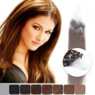 Neitsi 20 '' gerade Mikroringschleife Links-Menschenhaarverlängerungen 1 g / s 100% Remy Haar 50g